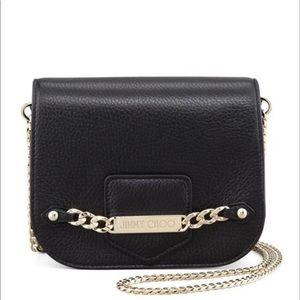 Jimmy Choo SHADOW Black Leather CrossBody Bag